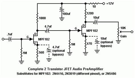 transistor mpf102 equivalent designing jfet audio prelifiers
