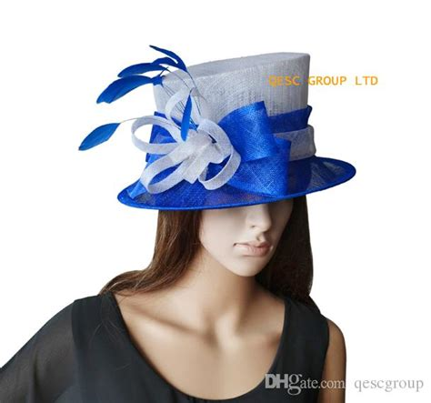 small white church hats royal blue white small sinamay hat ladies hat church hat