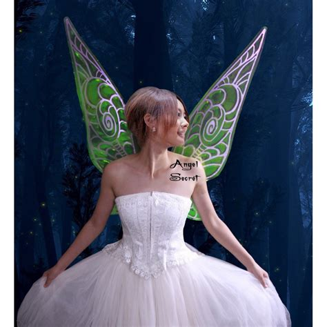 wn tinkerbell fairy cosplay costume wings wedding shoot