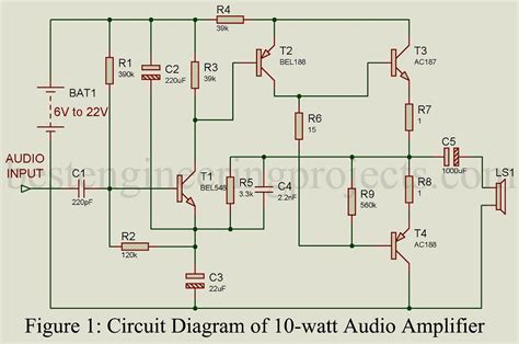 proper transistor lifier operation 10 watt audio lifier best engineering projects