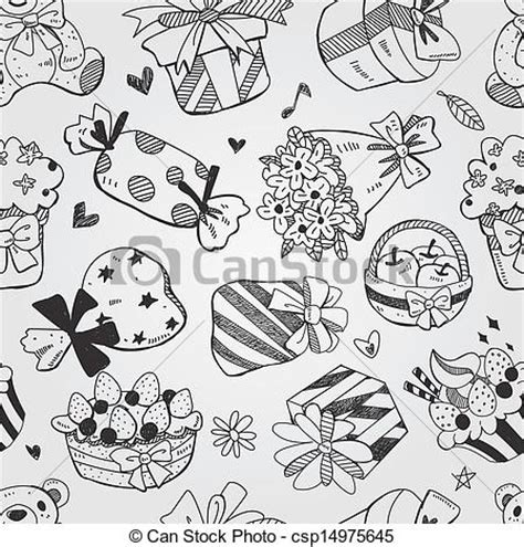 free doodle pattern vector eps vector of pattern doodle birthday seamless csp14975645