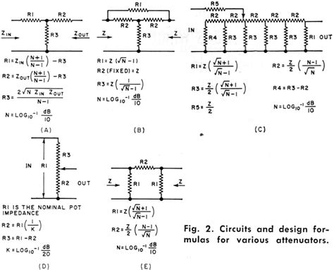 resistor values for attenuator resistive attenuators and pads may 1966 electronics world rf cafe