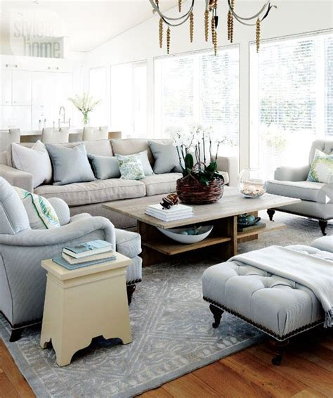 gray and light blue living room the cottage fisher and style on