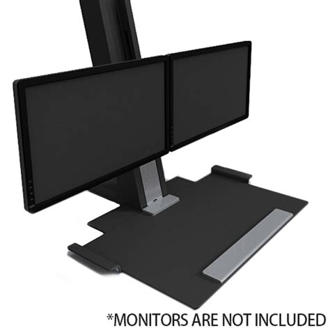 Humanscale Quickstand Height Adjustable Dual Monitor Sit Humanscale Sit Stand Desk