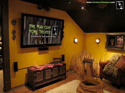 man home decor custom man cave horror themed home theater movie prop