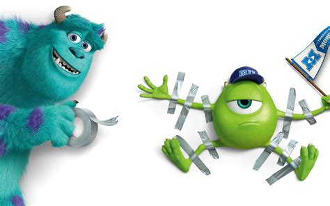 wallpaper disney animation sulley and mike wazowski monsters university wallpaper