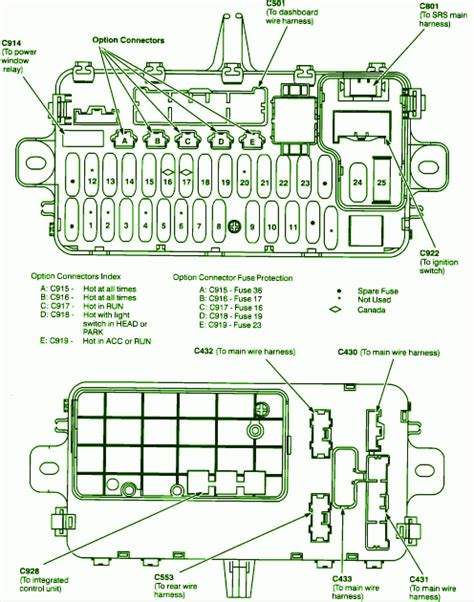 93 honda sol fuse box diagram circuit wiring diagrams
