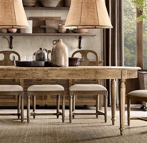 Vintage French Fluted Leg Dining Table Dining Tables Restoration Hardware Kitchen Tables