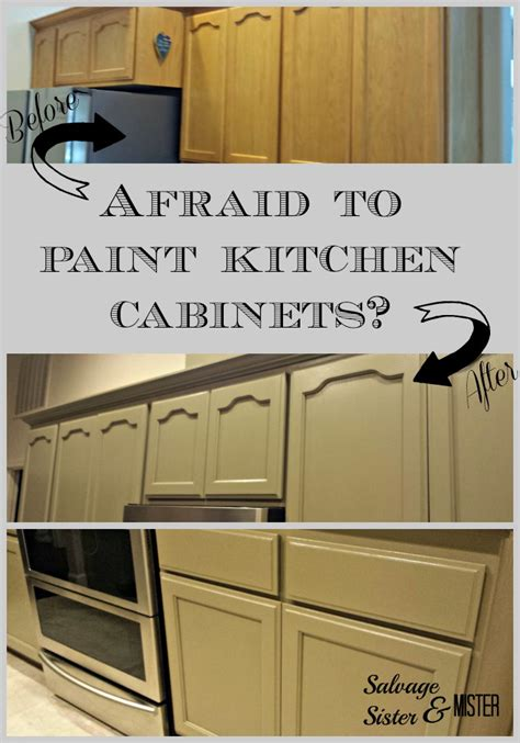 Ready To Paint Kitchen Cabinets | afraid to paint kitchen cabinets salvage sister and mister