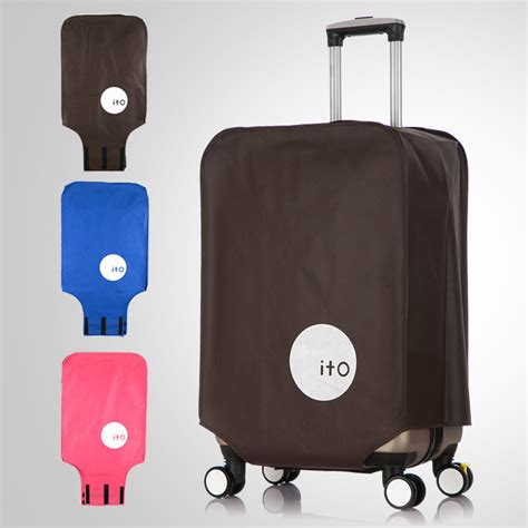 Luggage Cover Cover Pelindung Koper Ito 22 A202 Diskon ito cover koper waterproof size s coffee jakartanotebook