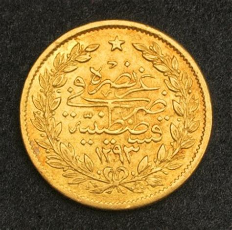 ottoman gold coins turkish gold coins 50 kurush gold coin of 1881 sultan