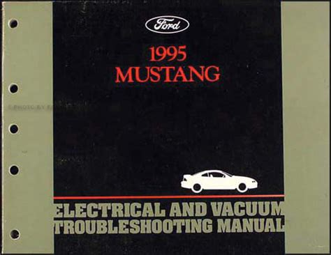 electric and cars manual 1995 ford f series navigation system 1995 ford mustang electrical vacuum troubleshooting manual original