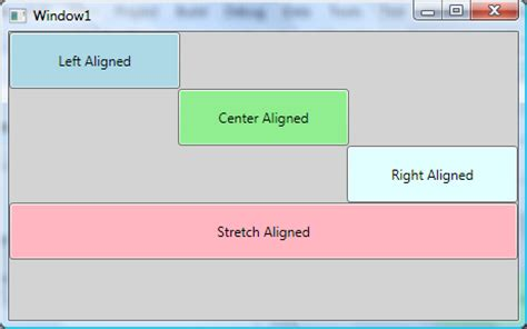 xaml button layout wpf layout horizontal and vertical alignment
