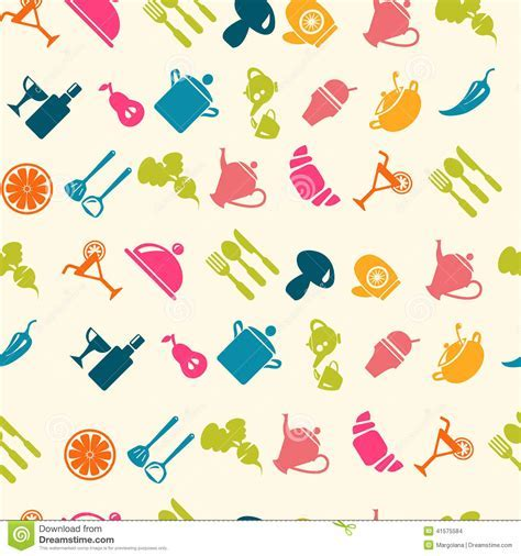 Food Icon Pattern   Illustration Stock Illustration