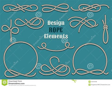 free font design elements rope design elements stock vector image of pattern