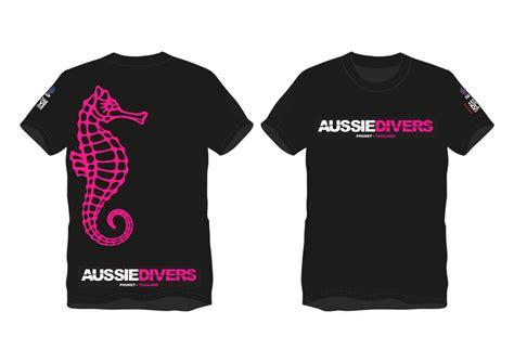 Kaost Shirt Diver aussie divers t shirts pink only thb 390 aussie divers phuket