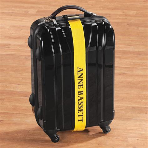 personalized yellow luggage strap luggage strap walter