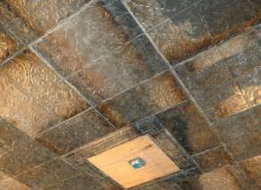 Rustic Drop Ceiling Tiles by Guide To Metal And Faux Metal Ceiling Tiles