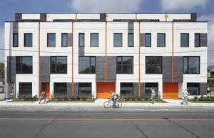 Brick Garages Designs modern townhouses that give toronto a new design recipe