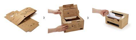 designboom cardboard samsung eco conscious origami cardboard mono laser printer