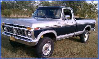 77 Ford F250 1977 F250 Highboy Hb Ranger 400 A T Blue Silver Redone