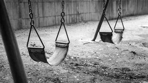 Empty Swing Black And White Free Range Kids
