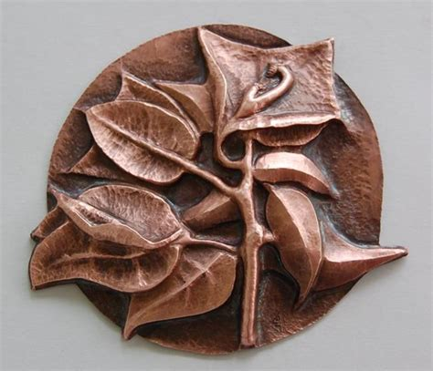 copper sheet offcuts for jewellery and repousse folksy bougainvillia in copper by robin cruz mcgee from repousse