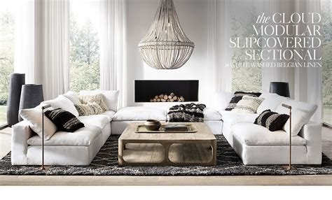 restoration hardware cloud sectional restoration hardware cloud sofa love this configuration