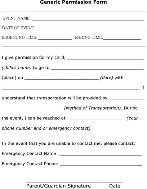 Parent Consent Letter For Baptism The Sle Permission Form Can Help You Make A Professional And Document