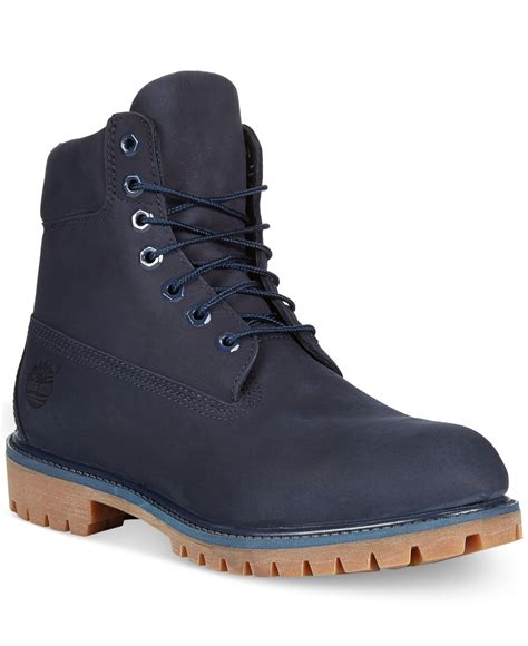 timberland boots blue mens lyst timberland 6 quot premium boots in blue for