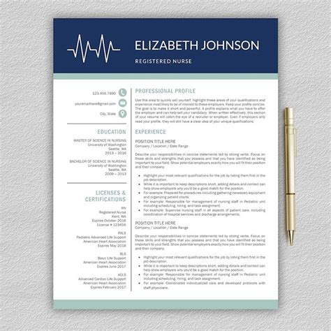 Professional Nursing Resume Templates by 21 Professional Nursing Resume Templates For 2018