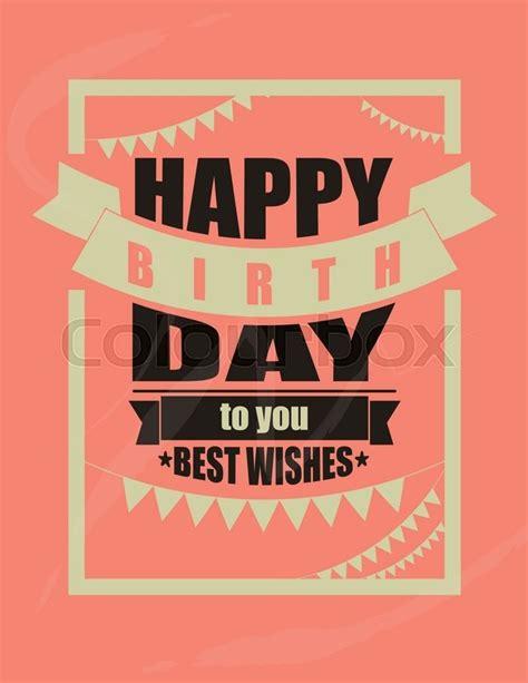 happy birthday retro design vintage happy birthday card frame design vector stock