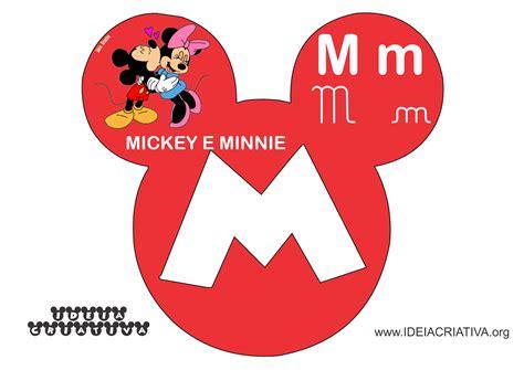 M Mickey alfabetos ideia criativa alfabeto mickey minnie disney