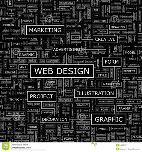 pattern design words web design stock photos image 34669773