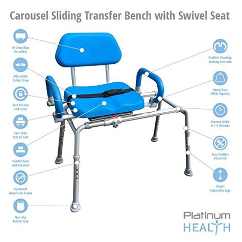 sliding shower bench with swivel seat carousel sliding transfer bench with swivel seat premium