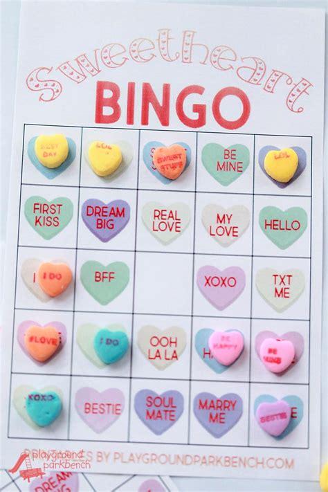 conversation hearts bingo cards template conversation bingo cards