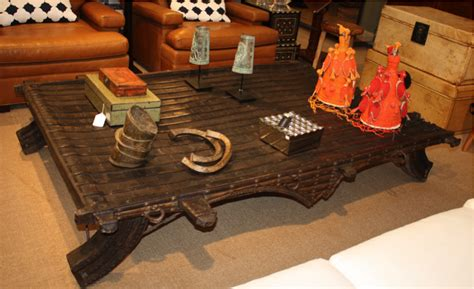 ox cart wooden table repurposed antique ox cart