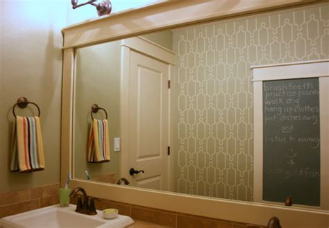 trim around bathroom mirror wood framed mirrors for modern homes
