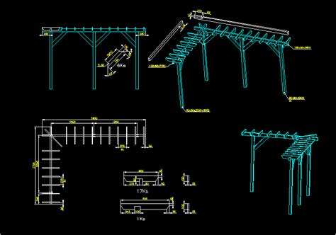 veranda dwg pergola construction details dwg detail for autocad