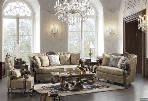 Home elegant traditional formal living room furniture collection