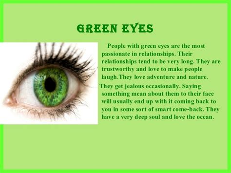 what does it to in color what does your eye color say about you