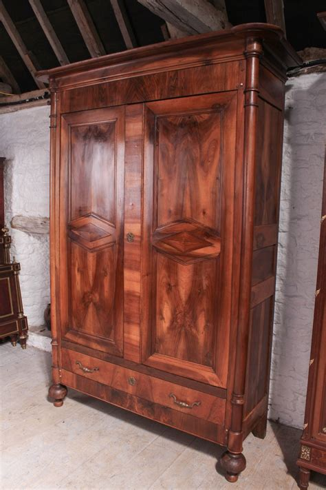 louis philippe armoire cherry louis philippe style cherry and walnut armoire 455669