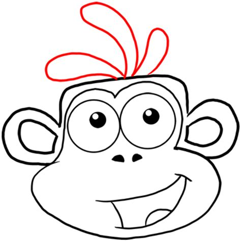coloring pages boots the monkey how to draw boots the monkey from dora the explorer