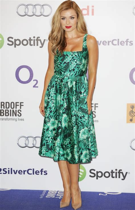 Pharmacy Industry Dress katherine jenkins wears zara floral frock at silver clef