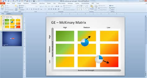 matrix templates free ge mckinsey matrix template for powerpoint free