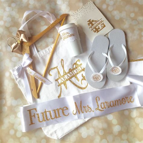 gift for bridal shower gift set personalized