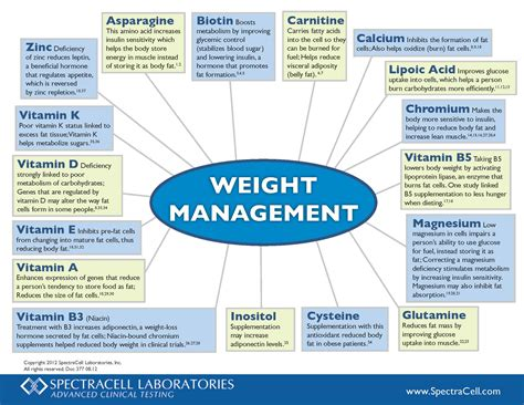 weight of management zinc spectracell laboratories
