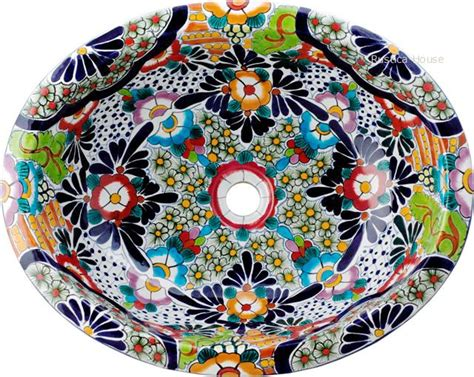 mexican bathroom sinks mexican hand painted talavera oval bathroom sink