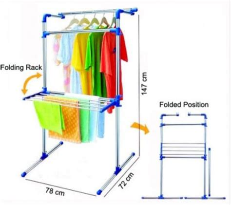 Laris 03 Multifunction Wardrobe Cloth Rack With Cover Lemari clothes lines racks drying rack multi purpose was sold for r395 00 on 18 nov at 13 31 by