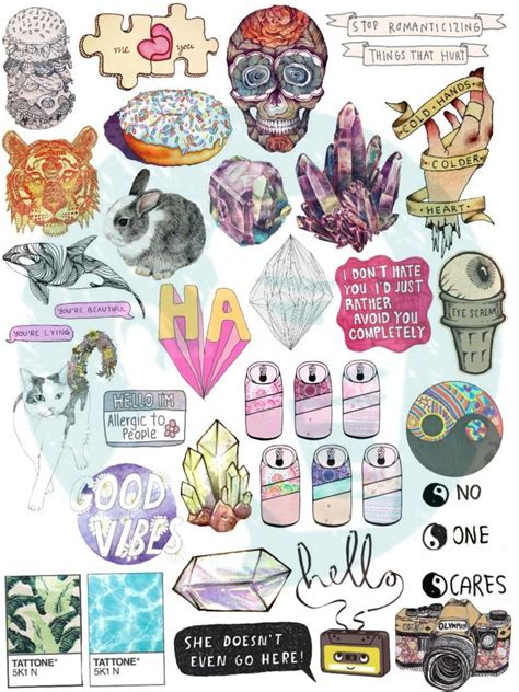 printable cling stickers set 39 tumblr stickers stickers set of stickers